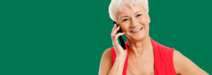 Woman calling the pharmacy for prescription delivery